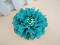 flower head fabric flowers - Trial order quot Eyelet Flowers With Crystal Button Eyelet Fabric Flowers