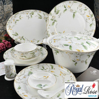 Wholesale Top grade fine bone china ELYSEES from Tangshan Longda Chinese dinner set
