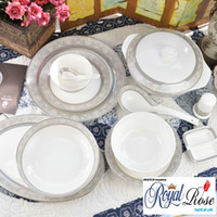 Wholesale Top brand fine bone china Roman Holiday orginal from Tangshan Longda Chinese dinner set