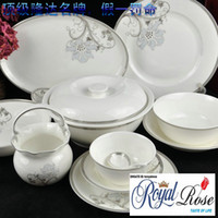 Wholesale fine bone china Chinese dinner set Eternal Love from Tangshan Longda in all