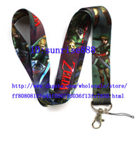 Wholesale Hot ZELDA Phone Lanyard Key ID Neck Strap