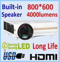 Wholesale Built in speaker Double HDMI Lumens Portable hd LED Projecor P Game projector TV Video
