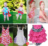 Wholesale NEW hot rompers baby girl Bowknot condole belt romper bobysuit kids one piece infant clothes zhh zsz