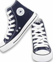 Wholesale Blue TALL Style STAR Classic Canvas Shoes Sneakers Men s Women s With BOX Canvas Shoe Colors All