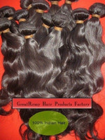 Wholesale Indian Virgin quot quot quot quot quot Hair Weft Weave Natural Color Remy Hair Wavy Retail Discount