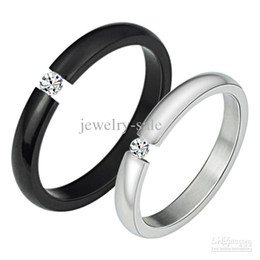 New product Brand new stainless steel ring 316l stainless steel diamond Couple ring 258