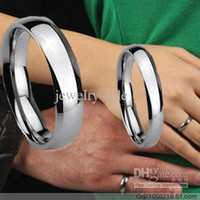 Band Rings american surfaces - Couple Finger Jewelry tungsten carbide steel finger ring Smooth surface scratchproof