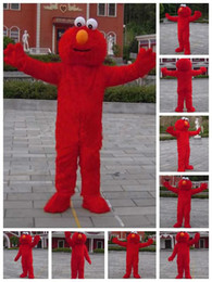 Wholesale Red Elmo Halloween Cartoon Character Costume mascot Custom Products custom made