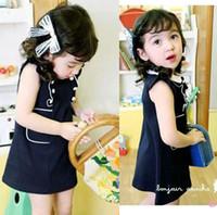 Wholesale Cotton dress girls dress Summer temperament Tutu lace sleeveless dresses baby dress