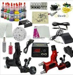 Wholesale 2pcs Dragonfly Rotary Tattoo Motor Machine Gun with color tattoo inks tattoo kits tattoo Equitment