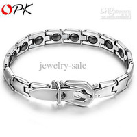 Wholesale ON SALE STAINLESS STEEL BRACELET JEWELRY BRAND SHIPPING HEALTH CARING MAGNETIC MM BANGLE TS977