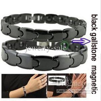 Wholesale Hot Sale fashion Jewelry black ceramic bracelets magnetic stone health care couple bracelet TS745