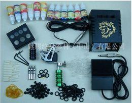 Wholesale Complete Tattoo Kit Machine Guns Ink Power Set HOT