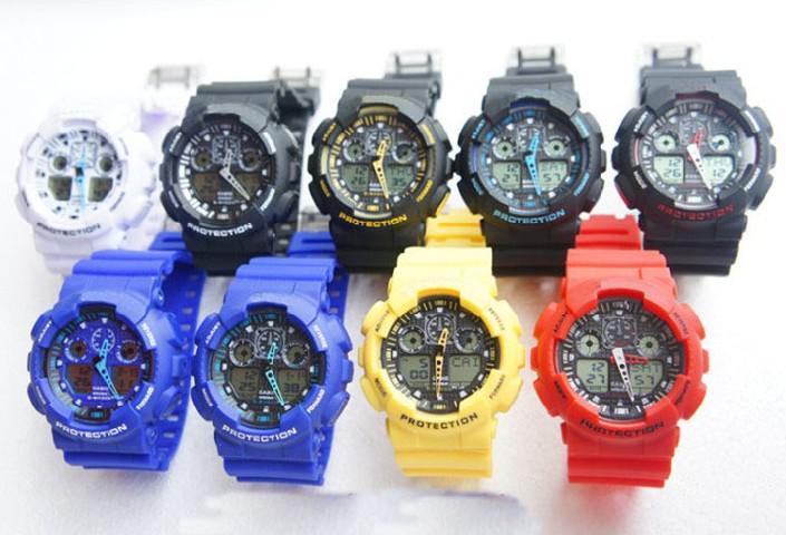branded hot men ga 100 sports watches waterproof wristwatches branded hot men ga 100 sports watches waterproof wristwatches luxury digital watch 8 colors watch