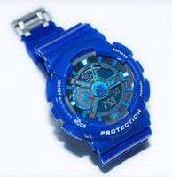 Wholesale Men s Blue GA110 Sports Watches Waterproof Wristwatches Wrist AA058