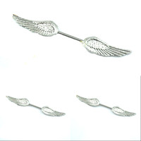 Wholesale 12Pcs Hot Angel Wings Nipple RingBody Jewelry Surgical L Steels NPBJ01