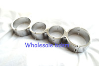 Wholesale Heavy Stainless Steel Wrist Ankle Cuff Binder Restraint Handcuffs Anklecuffs