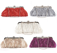 Wholesale SATIN FLORAL CRYSTAL PATTERN EVENING CLUTCH BAG WOMEN HANDBAG EVENING PARTY WEDDING PROM BAG