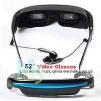 Wholesale 52inch Virtual Screen Video Eyewear Video Glasses bulid in GB USB Sample
