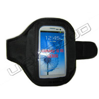 Gym Sports Jogging Pouch Armhand Armlet Black Case Cover for...