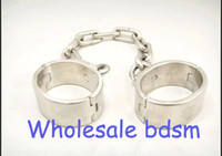 Wholesale Oval Pair Stainless Steel Chain ANKLE Cuffs Restraint Ankle Bondage