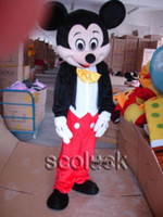 Wholesale For Sale Excellent Experience Bewitching Mr Mickey Mouse Cartoon Mascot Costume Adult Fancy Dress