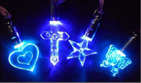 Wholesale Luminous necklace colorful LED Flash Necklace Pendant Fashion Necklace Pendant Light a magnetic toy