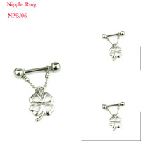 Wholesale Surgical L Steel Nipple Rings Dagle Charm Body Jewelry NRPJ06