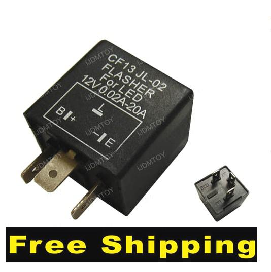 2017 3 Pin Car Flasher Relay To Fix Led Light Blink Flash