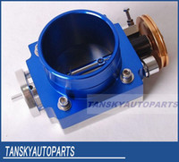 Wholesale NEW mm THROTTLE BODY silver blue for RB25 JZ EVO petrol CRUSIER L intake manifold