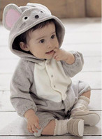 12-18 Months mouse animal - Baby boy s and girl s baby animal romper cute Mice long sleeve rompers cotton jumpsuits baby wear