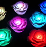 Wholesale LED Rose Light Colors Changing Tea Battery Candles Romantic Birthday
