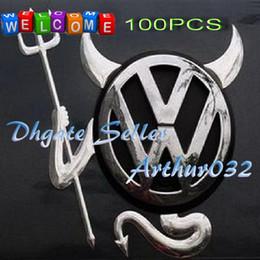 Wholesale Lowest Price D Devil Style Demon Sticker Car Emblem Logo Paper