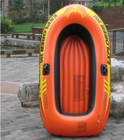 Wholesale Orange intex Inflatable boat Rubber boats Rowing boat Canoe Fishing boat Angling boat Double