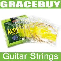 Wholesale Alice Sets A408 Acoustic Guitar Steel Core Copper Alloy Strings mm A408 L