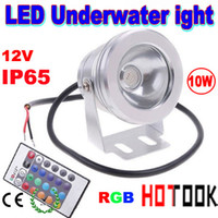 Wholesale 10W RGB Underwater Light LED Floodlight V Round Aquarium Fountain Lighting Flood Light Wash Lamp with Reflection Cup Retail