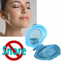 Wholesale Silicon Stop Snoring Nose Clip Anti Snore Sleep Apnea Help Aid Device Night Tray Gift Christmas p