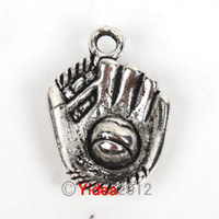 Wholesale 120pcs Zinc Alloy Baseball Gloves Charms Pendants Have in Stock Fit Necklace Jewelry Diy