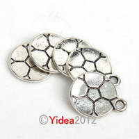 soccer jewelry - 120pcs Zinc Alloy Football Soccer Charms Pendants Have in Stock Fit Necklace Jewelry Diy