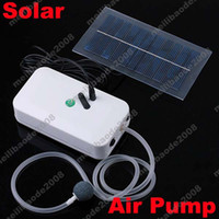 Wholesale 2pcs H57 White Portable Solar Power Panel Oxygenator Aerator Air Pump Oxygen Pool Pond