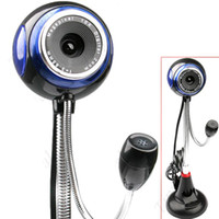 Wholesale 1 quot CMOS Mega Pixels Flexible Neck USB Webcam Web Digital Camera with Microphone for PC amp