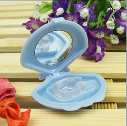 Wholesale Silicon Stop Snoring Nose Clip Anti Snore Sleep Apnea Help Aid Device Night Tray christmas pc