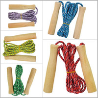 Wholesale Wooden Handles Fitness Exercise Jump Skipping Rope