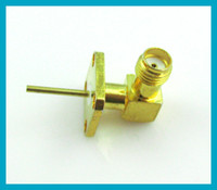 100X High quality ! goldplated SMA female connector 4 hole p...
