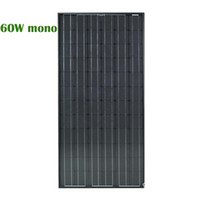 60W Monocrystalline silicon solar panel with Good Performanc...