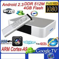 USB Android TV Box Android 2.3 NEW !! Set Top Box GV-5 TV BOX Android 2.3 512M 4GB with HDMI VGA AV USB Camera Flash 10.3 FREE DHL