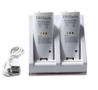 Wholesale Dual Charging Stand with mAh Battery Pack for Nintendo Wii