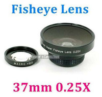 Wholesale 37mm X Super Wide Fisheye Lens for Canon Sony JVC Panasonic w macro