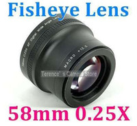 Wholesale 58mm X Wide Fisheye Lens for Canon Sony Nikon olympus pentax w macro