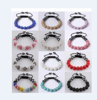 Wholesale Best price shamballa bracelet mm Clay crystal Pave Disco Ball braid bracelets Jewelry